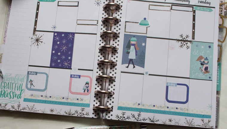 Happy Planner Weekly Spread | Winter Squad Goals | Created by Jen Blog