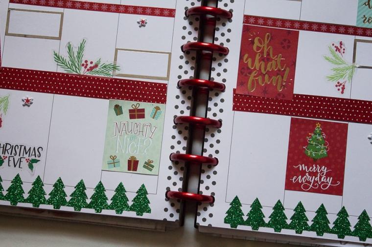Christmas Week Happy Planner Spread | Created by Jen Blog
