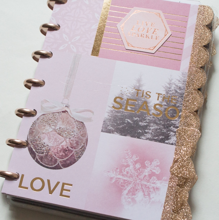 Mini Happy Planner Pink Holiday Setup | Created by Jen Blog