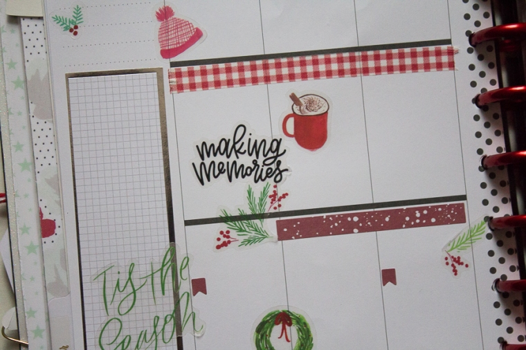 Happy Planner Christmas Weekly Spread | Created by Jen Blog