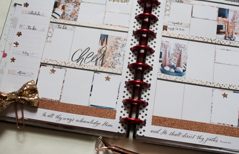 Happy Planner Weekly Spread feat. This Well Planned Life | Christmas | Created by Jen Blog