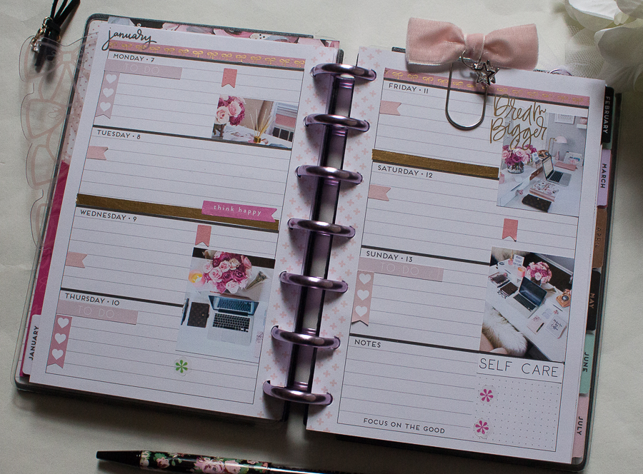 Mini Happy Planner Weekly Spread feat. This Well Planned Life   Created by Jen Blog