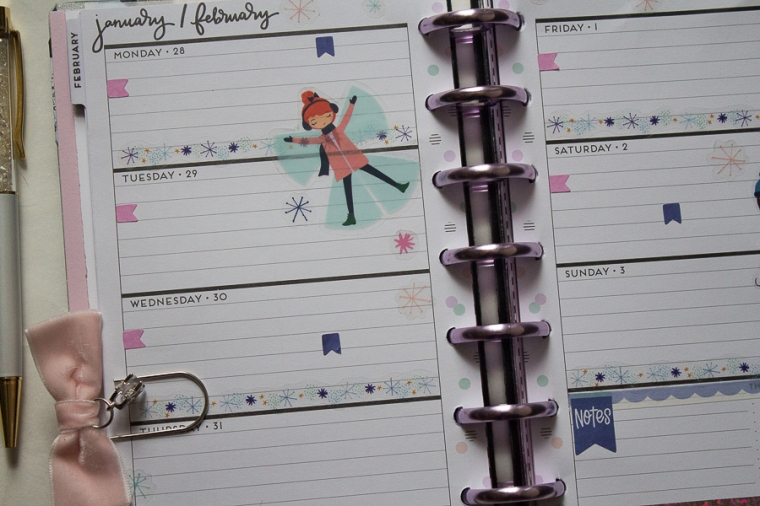 Mini Happy Planner Weekly Spread feat. Squad Goals | Created by Jen Blog