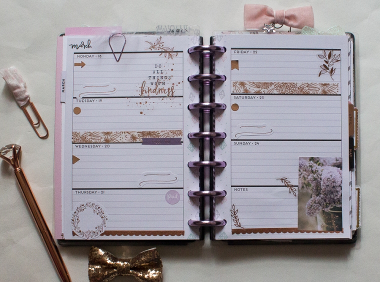 Mini Happy Planner Weekly Spread | Spring! | Created by Jen Blog