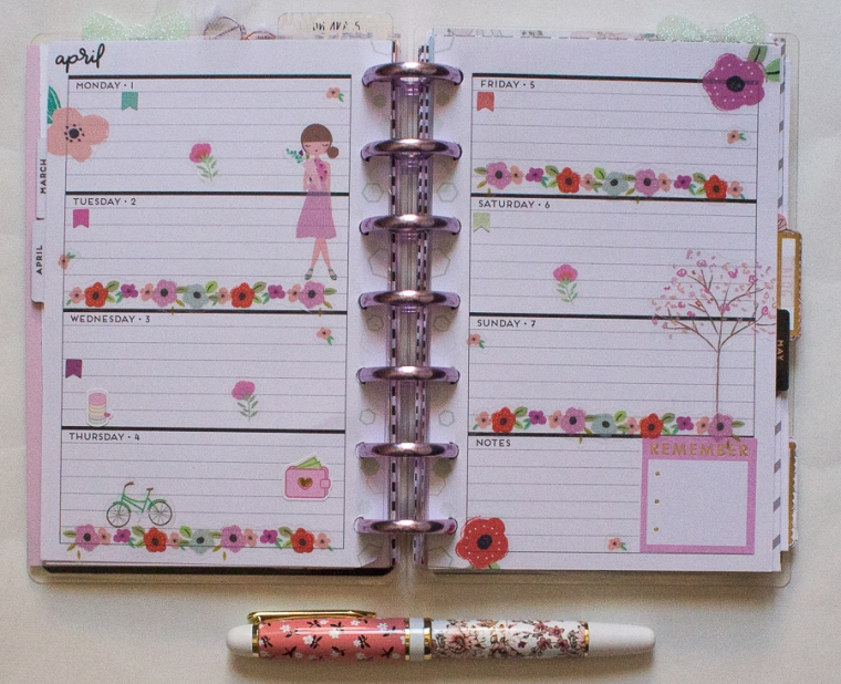 Mini Happy Planner Weekly Spread | Squad Goals | Created by Jen Blog