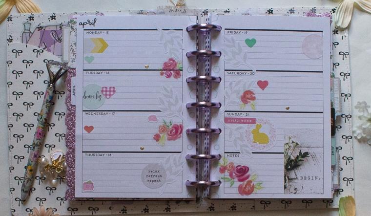 Easter Mini Happy Planner Spread   Created by Jen Blog