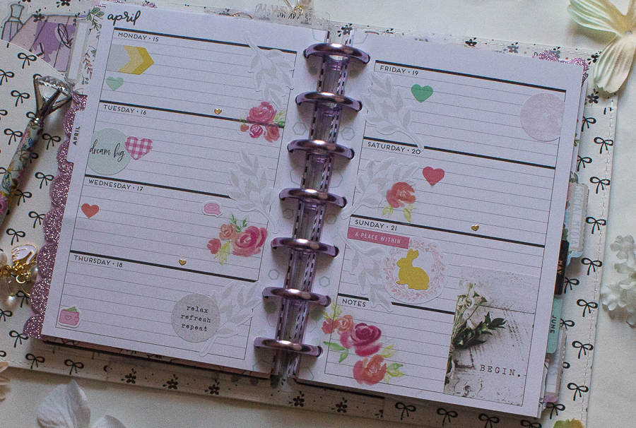 Easter Mini Happy Planner Spread | Created by Jen Blog