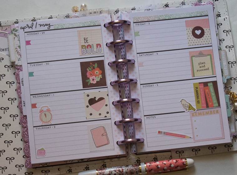 Mini Happy Planner Weekly Spread | Created by Jen Blog