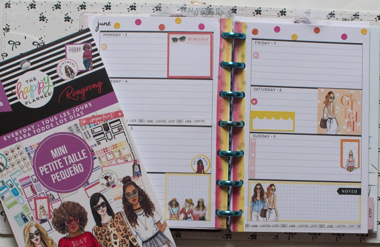Mini Happy Planner Weekly Spread | Rongrong | Created by Jen Blog