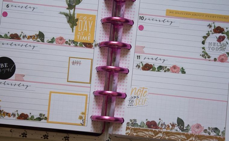 Mini Happy Planner Weekly Spread | Botanicals