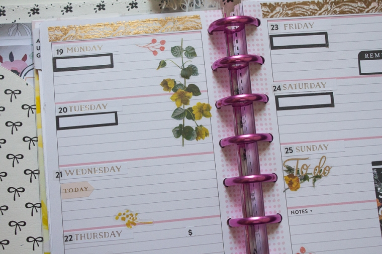 Mini Happy Planner Weekly Spread