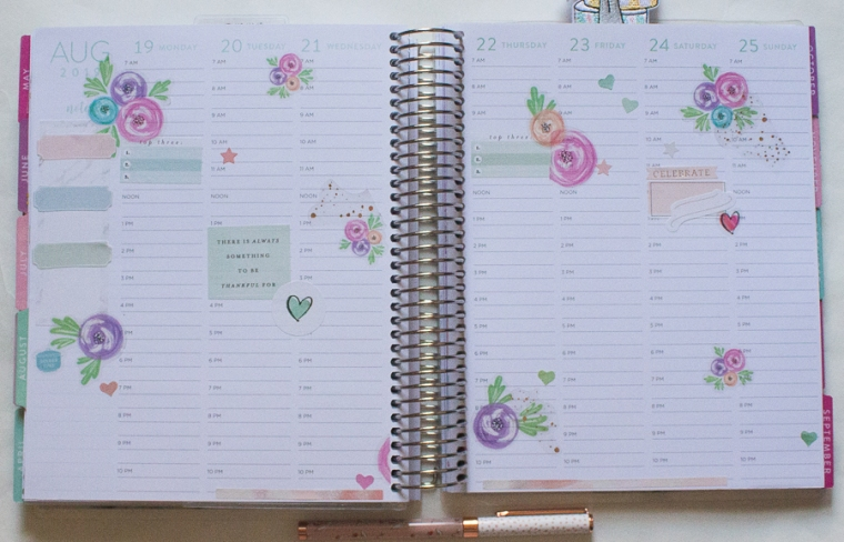 Recollections Weekly Spread
