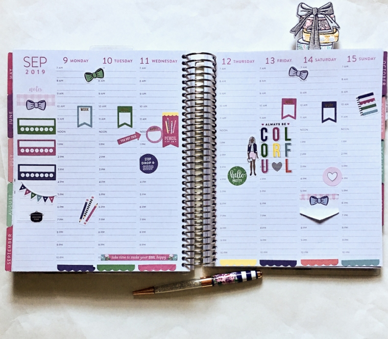 Roundup of Recent Planner Spreads