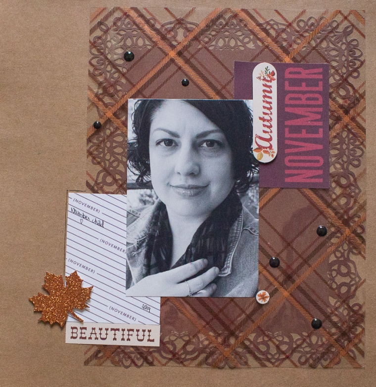 November Scrapbook Layout